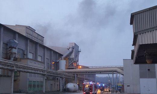 Feuer in Industriepark