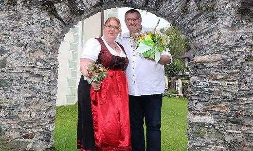 Melanie und Sascha Withram bei ihrer kirchlichen Trauung