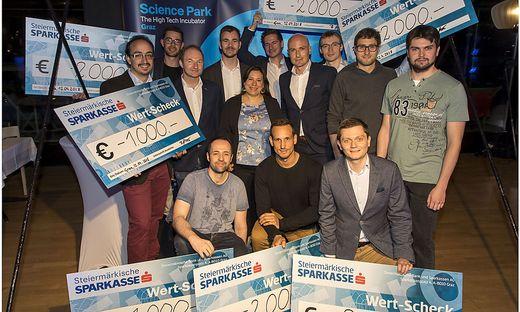 Die Preisträger des Ideenwettbewerbs des Science Park Graz