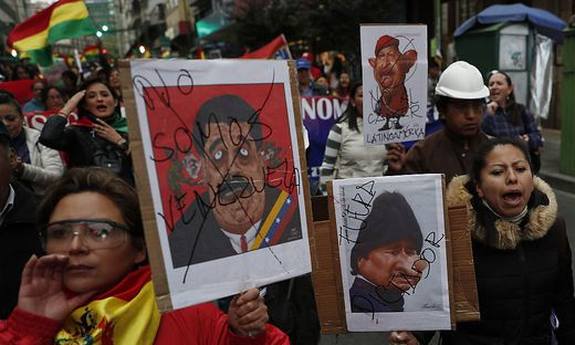 Protest gegen den Wahlsieger Morales