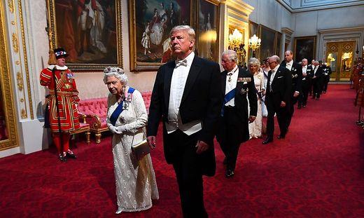 Trump bei der Queen
