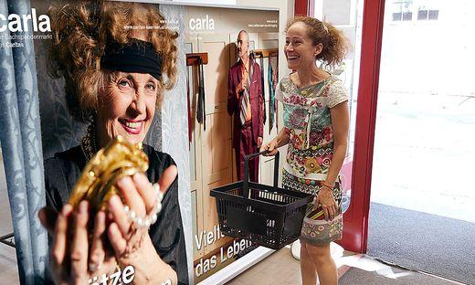 Sandra Pires im Carla-Shop in Klagenfurt, wo sie Stammkundin ist