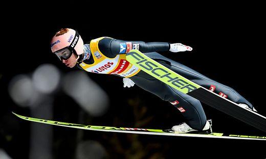 Stefan Kraft sprang bei schwierigen Verhältnissen stark