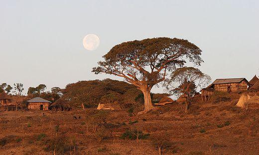 Kleines äthiopisches Dorf