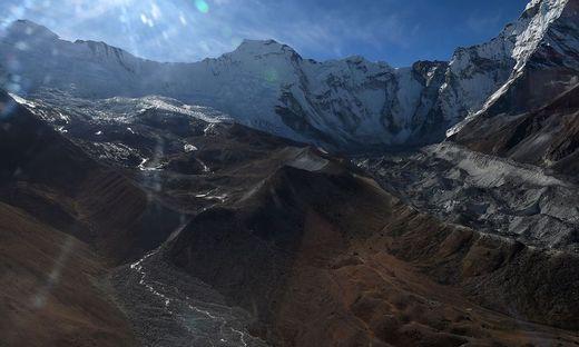 Gletscher in der Everest-Region in Nepal