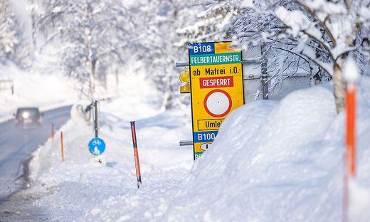 Der viele Schnee führte auch vielfach zu Problemen