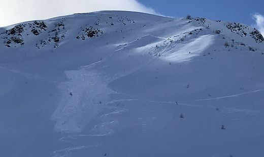 Lawinenabgang auf der Schönbergspitze