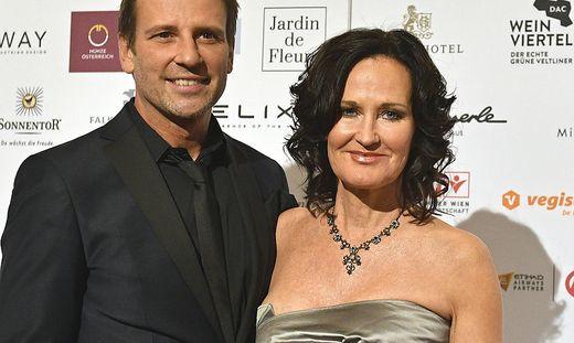 Eva Glawischnig mit ihrem Mann Volker Piesczek