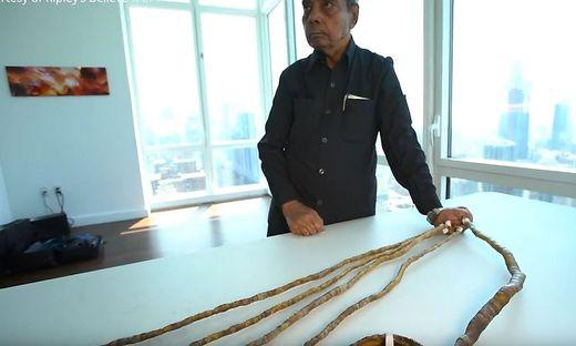 Der Inder hatte die Nägel seiner linken Hand seit 1952 nicht mehr abgeschnitten
