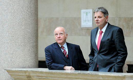 Dietrich Birnbacher (links) und sein Verteidiger Richard Soyer