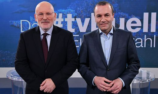 WAHL19: Das Duell: Manfred Weber & Frans Timmermans