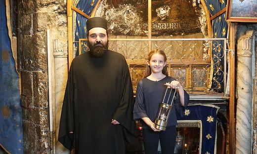 """""""ORF-Friedenslicht"""" in Bethlehem entzuendet"""