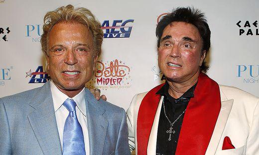 Siegfried Fischbacher (links) mit Roy Horn