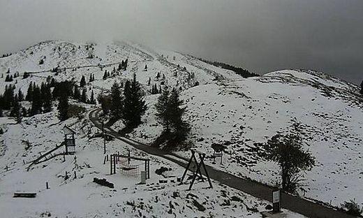 Neuschnee auf der Villacher Alpe