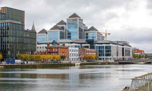 Das Finanzzentrum im irischen Dublin