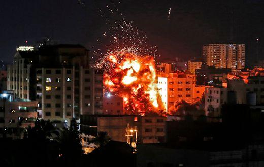 Israel reagierte mit mehreren Luftangriffen auf den Gazastreifen