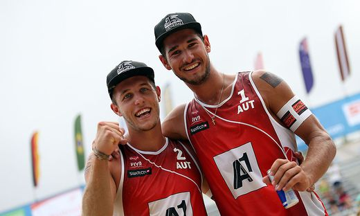 Moritz Pristauz-Telsnigg (links) mit Beach-Partner Martin Ermacora