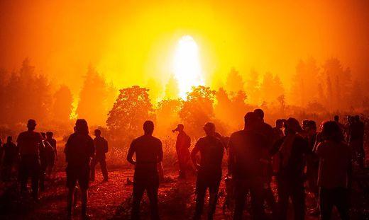 Apokalyptische Szenen auf Euböa (Griechenland)