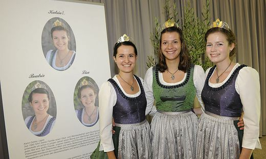 Die amtierenden Hoheiten Katrin, Beatrix und Lisa