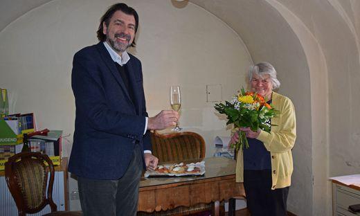 Bürgermeister Josef Wallner gratulierte Jubilarin Barbara Faulend-Klauser zum 95. Geburtstag