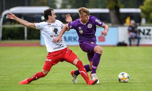 Florian Freissegger (rechts) hat sich heuer in den Stammkader der Austria gespielt