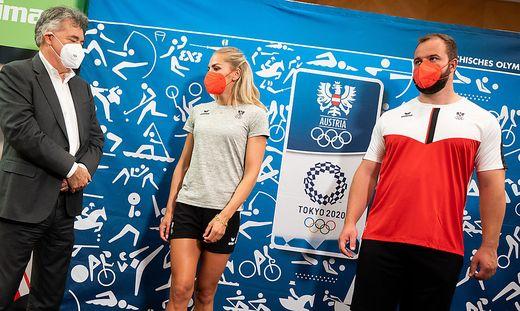 Ivona Dadic, Werner Kogler und Lukas Weißhaidinger