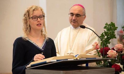 Eva Wimmer predigte gemeinsam mit Bischof Wilhelm Krautwaschl