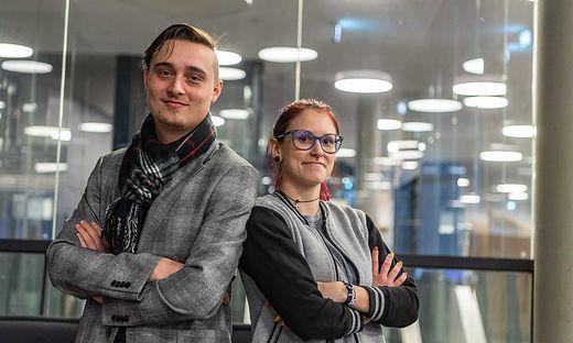 Christoph Baumhackl von Umdasch in Leibnitz und Nadine Ritz von Magna Steyr in Graz