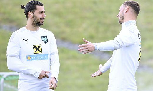 Aleksandar Dragovic (links) legt Wert auf Teamwork