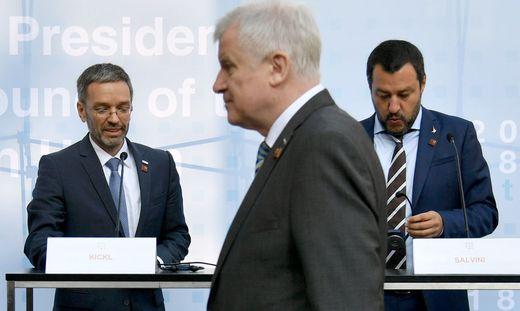 EU-RATSVORSITZ - INFORMELLER EU-RAT JUSTIZ UND INNERES: KICKL, SEEHOFER, SALVINI