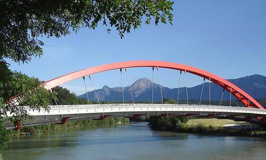 Die Friedensbrücke in Villach wird Anfang Mai überprüft