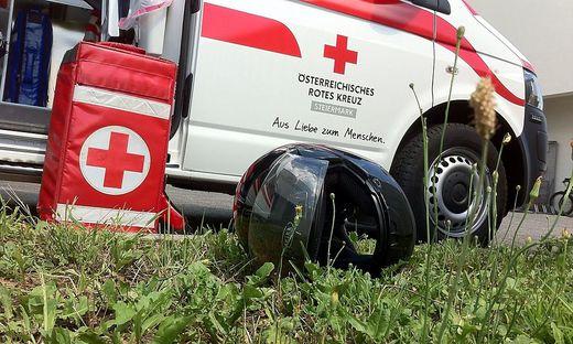 Der Verletzte wurde nach Graz gebracht