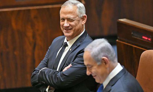 Die zwei Rivalen sind jetzt Partner: Benny Gantz und Benjamin Netanjahu