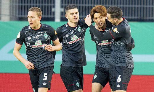GER, DFB Pokal Viertelfinale, SSV Jahn Regensburg vs. SV Werder Bremen / 07.04.2021, Jahnstadion Regensburg, Regensburg,