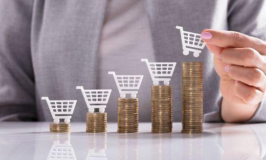 Inflation: Der Warenkorb bleibt gleich groß, kostet aber sukzessive mehr Geld