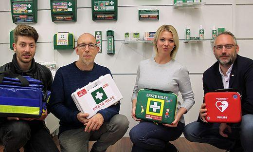 Von links:  Matej Senjak, Christian Pohler, Suzana Wallenta und Ernst Motschilnig