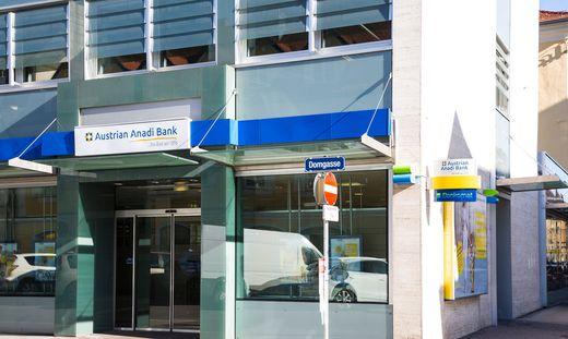 Anadi Bank-Filiale in der Klagenfurter Domgasse