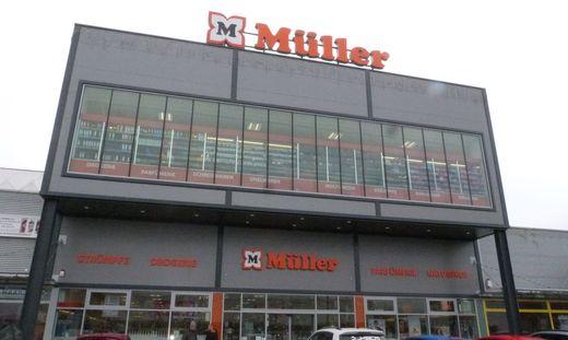 Im ersten Stock der Müller-Filiale in Fohnsdorf erfolgte die Polizeikontrolle