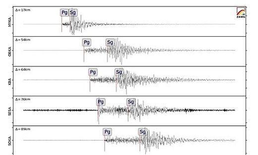 Das Erdbeben am Dienstag weist eine Magnitude von 2.6 auf