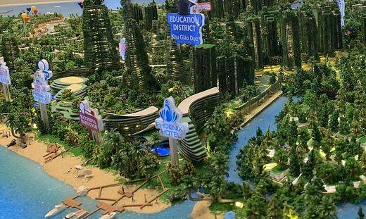 """Geplante """"Forest City"""" in Malaysia für 700.000 Menschen"""