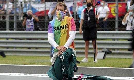 Sebastian Vettel setzte ein Zeichen für Toleranz und Menschenrechte