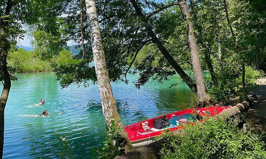 Das Anlegen eines Bootes am Ufer des Lendspitzes ist nicht erlaubt