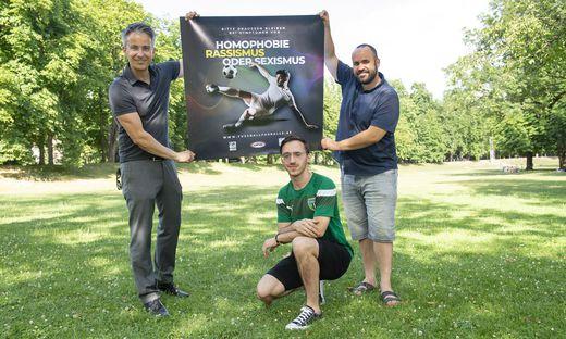 Kampagne gegen Homophobie, Sexismus und Rassismus im Fu�ball im Grazer Sportjahr