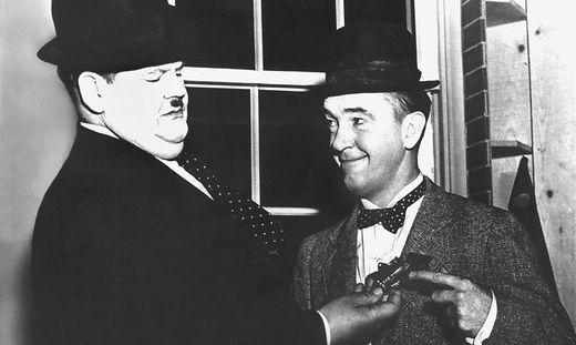 Oliver Hardy und Stan Laurel spielten gemeinsam in über 100 Filmen
