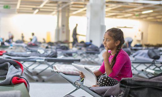 Flüchtlingsmädchen in Graz.