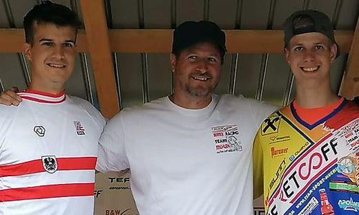 Andreas Junior, Andreas Senior und Fabian Kogler (von links)