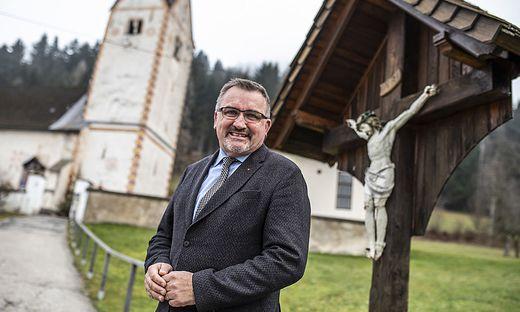 Lokalaugenschein Kristendorf Sittersdorf Bischof Joseg Marketz Dezember 2019