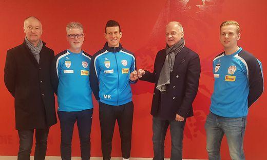 Günter Krenn, Karl-Heinz Kubesch, Florian Maierhofer, Erwin Fuchs und Kevin Schreiner