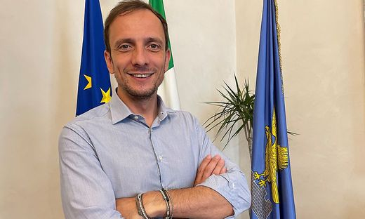 Massimiliano Fedriga, Regionspräsident von Friaul-Julisch Venetien im Regierungspalast in Triest