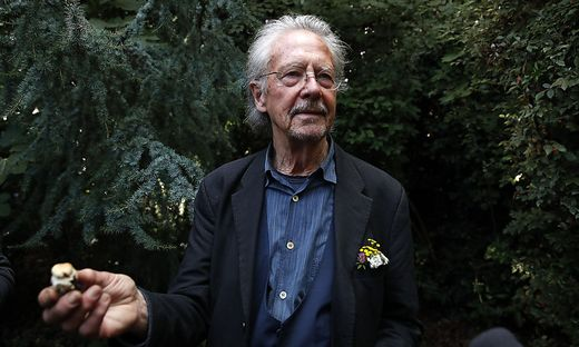 Peter Handke am Donnerstagnachmittag